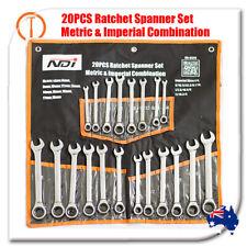 20 PCS NDI RATCHET SPANNERS SET METRIC IMPERIAL ND-0329