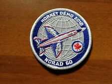 Royal Canadian Air Force CF-18 Hornet Demo 2018 NORAD 60 Patch