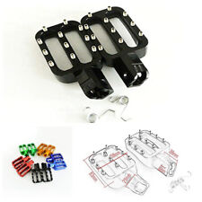 Pair Black CNC Pit Bike Foot Pegs Rests Footpegs Removable and Replaceable Teeth
