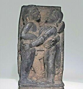 Miniature Vintage Carving Depicting Kama Sutra