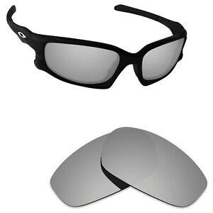 Scratch Proof Polarized Replacement Lens for-Oakley Split Jacket Silver Titanium