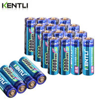 KENTLI Battery AA 1.5V 3000mWh polymer Durable Rechargeable Batteries + Charger