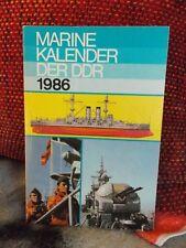 Kalender : Marine Kalender DDR 1986 / Flohr u. Rosentreter / Militärverlag