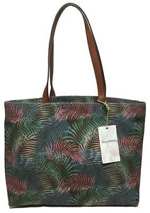 NWT Tommy Bahama Woman's Tote, Teal Floral MSRP: $148.00