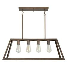 Yosemite Home Decor Skyline Ridge 4-Light Oil Rubbed Bronze Island Light w/Metal