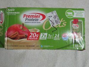 (18) Premier Protein Smooth & Creamy Shake Oats Apple Cinnamon 11 Oz Each ^1