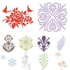 Retro Floral DIY Hand Painting Grain PVC Template Stencil Wall Art Decor