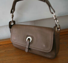 Rene Lezard Tasche, edle Luxus Handtasche, genarbtes Leder braun, 100 % Original