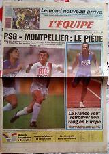 L'Equipe Journal 5-6/8/1989;  PSG-Montpellier/ Lemond/ NOah-Hagelaeur/ Equitatio