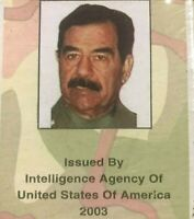 "Authentic Intelligence Agency Iraq war ""MOST WANTED"" 52 deck of playingcards"