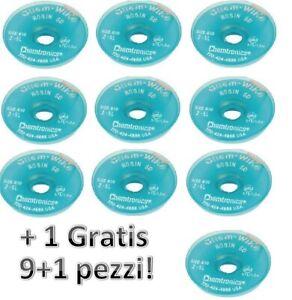 Offerta stock 10 pezzi Rocchetti di treccia dissaldante 1.9 mm 1.5 metri