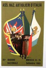 Cartolina Ass. Nazionale Artiglieri D'Italia XII Raduno Nazionale Brescia 1963