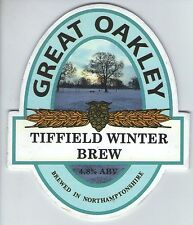 GREAT OAKLEY BREWERY - TIFFIELD WINTER BREW - PUMP CLIP FRONT