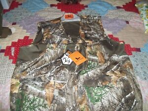 Field & Stream Men's Size XL Hunting Zip Vest Real Tree Edge With Big Pocket NWT