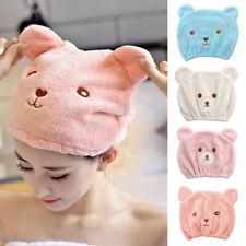 Kids Children Bear Turban Hair Wrap Towel Quickly Bath Spa Dry Hair Hat Cap