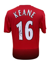 RARE ROY KEANE SIGNED MANCHESTER UNITED FOOTBALL SHIRT WITH COA & PROOF