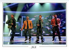 JLS ORITSE WILLIAMS SIGNED Autograph Hugh 16x12 Photo MUSIC AFTAL COA