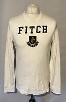 Abercrombie & Fitch Men's T Shirt White L/S Medium 100% Cotton *Marks*