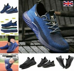 Men Steel Toe Cap Saftey Protective Shoes Lightweight Working Trainers Boots H1