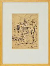 Zeichnung Nini Consolaro Bauernhäuser 1976 Sammlung Karl Schott 37 x 28 cm