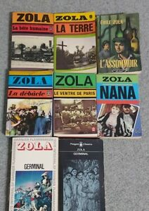 Collection 7French Novels by Emile Zola- paperbacks from 1970s- (+1 in English)