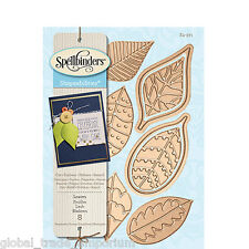 SPELLBINDERS Shapeabilities LEAVES S4-571 6 Dies Woodland Collection Cut Emboss