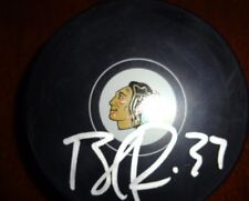 Brandon Pirri Chicago Blackhawks autographed puck w/C.O.A. - Florida Panthers