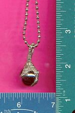 New lead free pewter dragon claw on a steel ball chain necklace 535