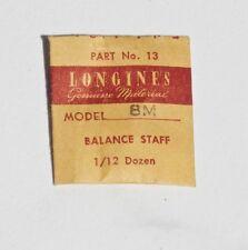 balance staff Nos Longines Swiss part Vintage Longines watch 8M Longines watch