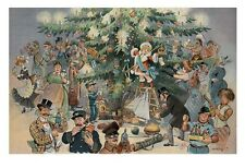 Puck's Christmas Tree Eve presents gifts wall art print poster Xmas X-mas 12x18
