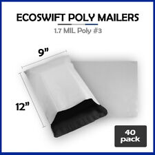 40 9x12 Ecoswift Poly Mailers Plastic Envelopes Shipping Mailing Bags 17mil