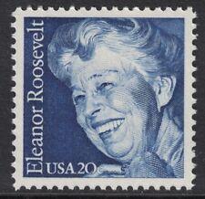 Scott 2105- Eleanor Roosevelt, First Lady- 20c MNH 1984- unused mint stamp- FDR
