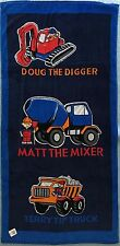 Mat The Mixer Beach | Pool Bath Towel | 100% Cotton | Concrete Truck | Tip Truck