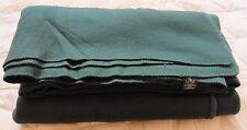 "Ralph Lauren LRL Throw Blanket 100% Acrylic USA Green KING 108""x90"" Vintage"
