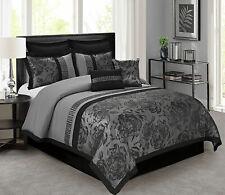 Hypoallergenic 8 Pcs Floral Jacquard Comforter Set Fade Resistance Ultra Soft