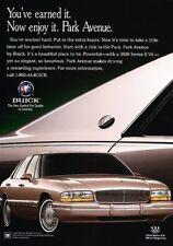 1995 1996 Buick Park Avenue -  Original Advertisement Print Art Car Ad J885