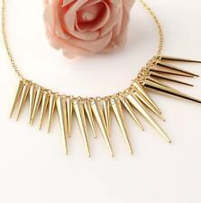 Women Fashion Christmas Gift Gold Color Chain Spike Pendant Necklaces Jewelry