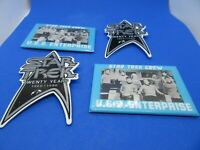 Star Trek 20 Year Anniversary Pins and Two Star Trek Crew  Mirrors