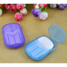 2BOXES(40PCS)Travel Scented Slice Sheet Foaming  Paper Soap Washing Hand  Face