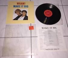 Wham 1984 Make It Big CBS Records Taiwan Vinyl LP Promo Insert & Promo Sticker