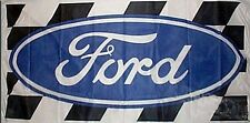 Large Ford nylon flag (logo + chequered pattern) 1500mm x 740mm      (of)
