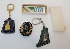 UTA, compagnie aérienne, écusson, porte-clé…vintage, lot 3