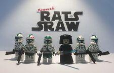 Lego Star Wars minifigures - Clone Custom Troopers - General Unduli's Green Coy