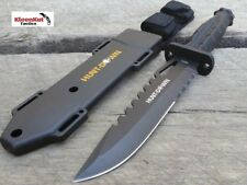 """NEW 13"""" Black GRENADE STYLE Handle Hunting Knife with Heavy Duty Sheath 7"""" Blade"""