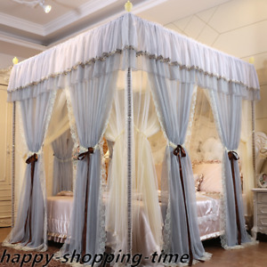 summer canopy for bed mosquito net double layers valances bed curtain & frames