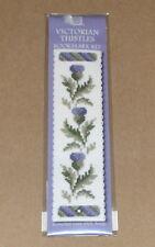 "Textile Heritage ""Victorian Thistles"" Cross Stitch Bookmark Kit NIP"