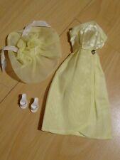 Vintage Baebie Tressy Doll Evening Jewel Dress Yellow Rare American Character