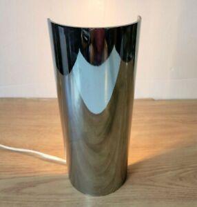 "Early 1960's PAUL MAYEN for HABITAT Polished Aluminum Cylinder Table Lamp 10"""