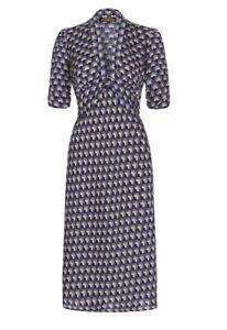 Nancy Mac Fan Print dress 40's Style