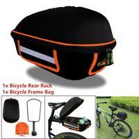 Bike Trunk Bag Bicycle Rack Rear Carrier Bag Commuter Bike Luggage Bag Pannier